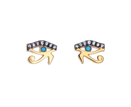 Diamond Eye of Horus Stud Earrings