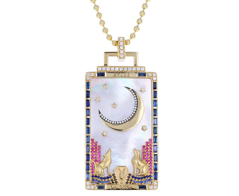 La Luna Tarot Card Pendant Necklace