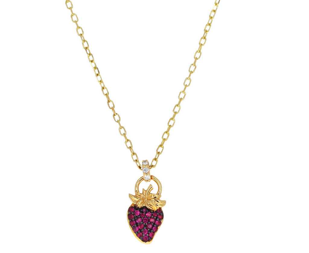 Pink Sapphire Fragola Pendant Necklace