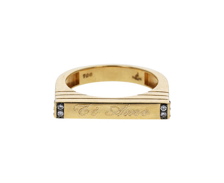Ti Amo Gold and Diamond Stacking Ring