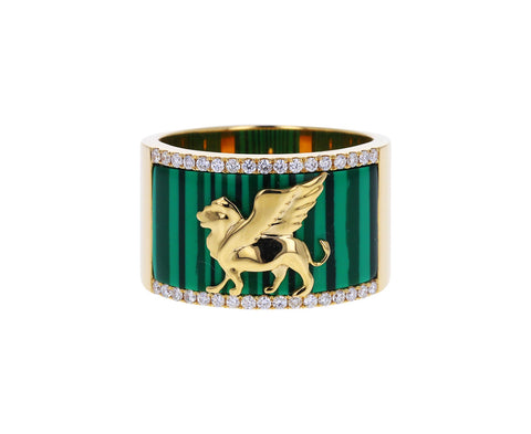 Malachite Il Leone Cigar Band
