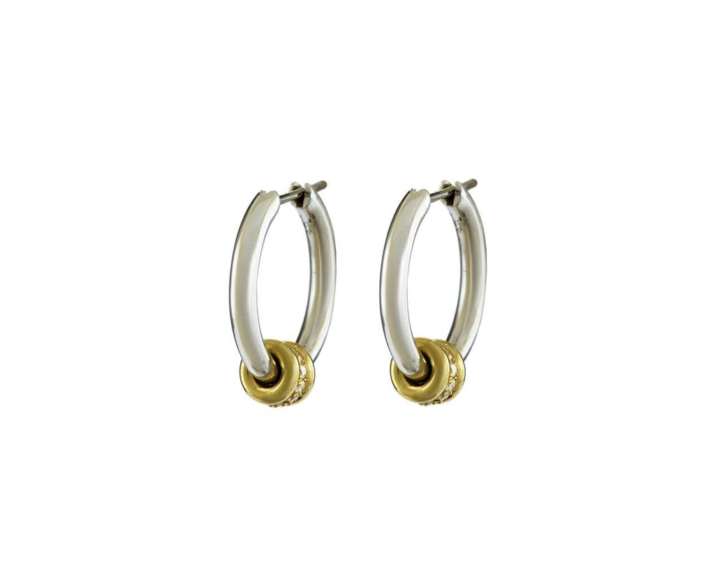Silver Ara Diamond Hoop Earrings - TWISTonline