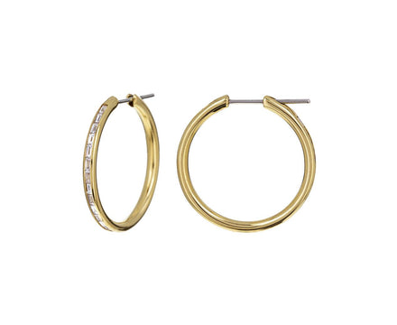 Diamond Baguette Hoops - TWISTonline