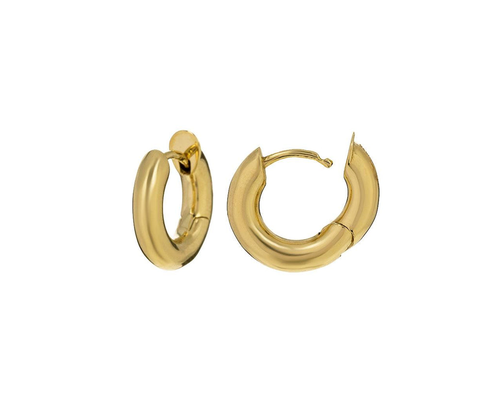 Yellow Gold Macro Hoops - TWISTonline