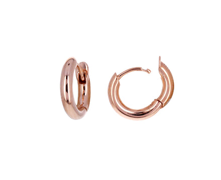 Rose Gold Mini Micro Hoop Earrings