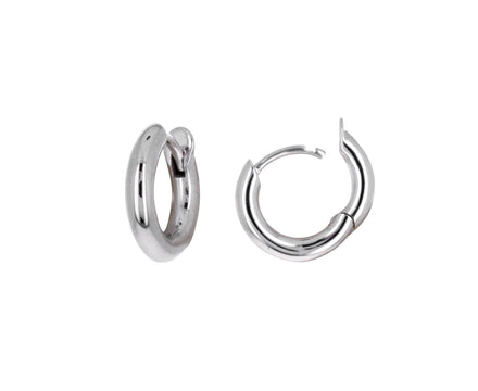 White Gold Mini Micro hoop Earrings