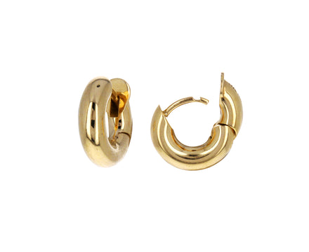 Gold Mini Macro Hoop Earrings