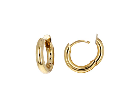 Yellow Gold Mini Micro Hoop Earrings