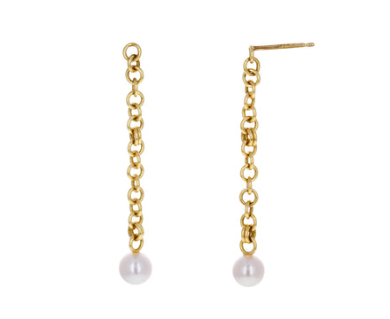 Gravity Chain Anaka Pearl Earrings