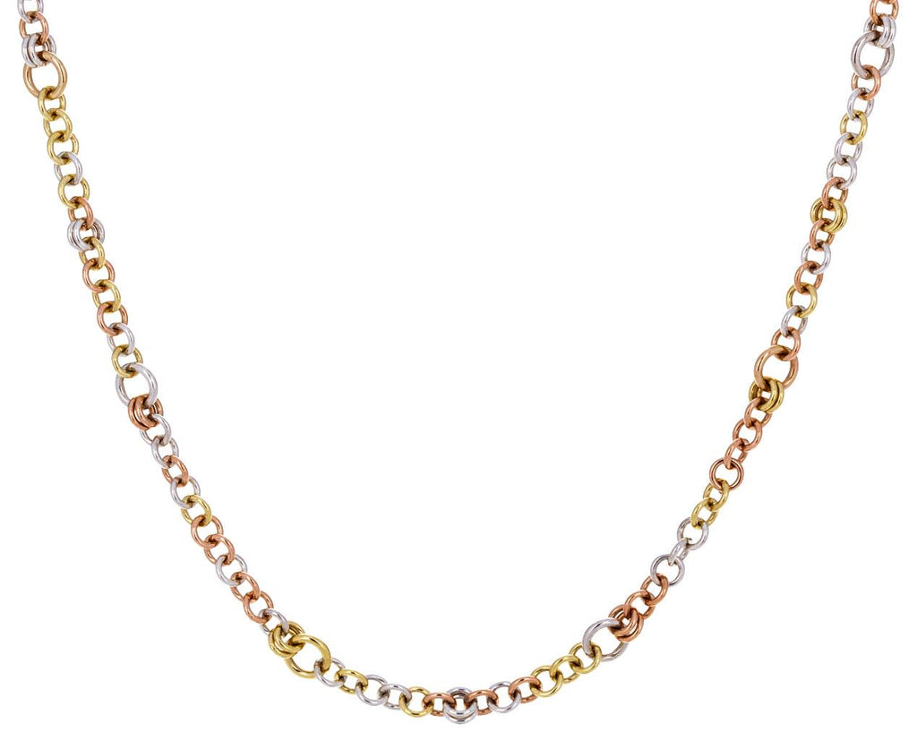 Mixed Metal Cable Chain Necklace - TWISTonline