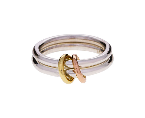 Silver and Gold Caliope Ring