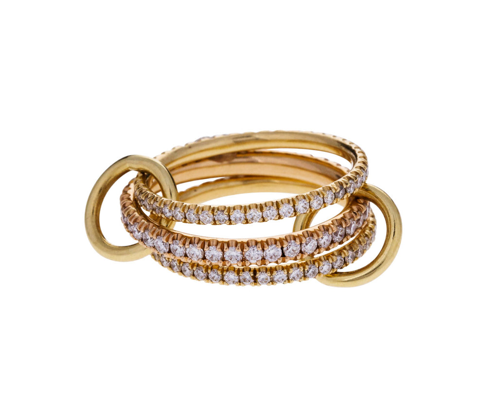 Ursula Diamond Pavé Triple Ring - TWISTonline