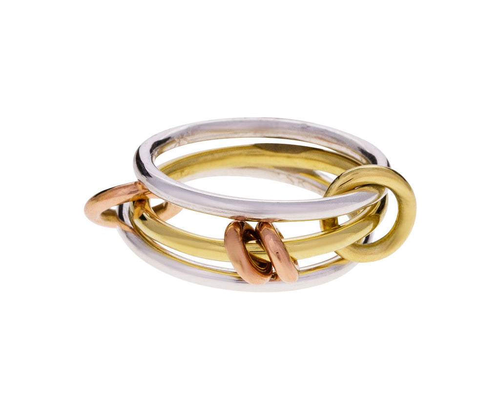 Mixed Gold Acacia Ring