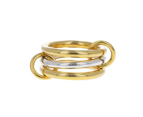 Yellow Gold and Sterling Silver Taurus SG Ring