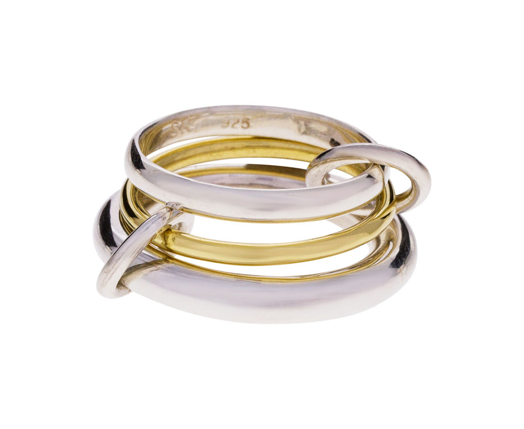 Silver and Gold Amarylis Ring