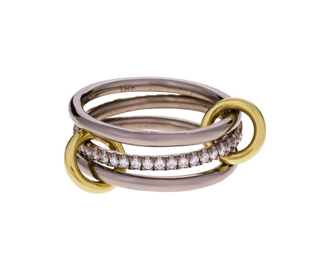 Mixed Gold and Diamond Sonny Ring