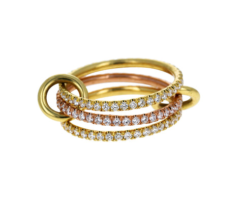 Aurora Triple Pave Diamond Ring