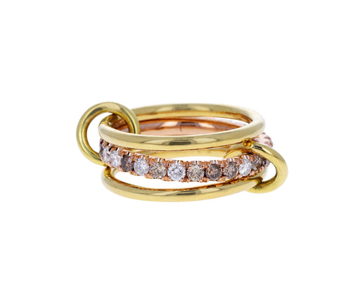 Gold and Mixed Diamond Sonny Max CCW Ring