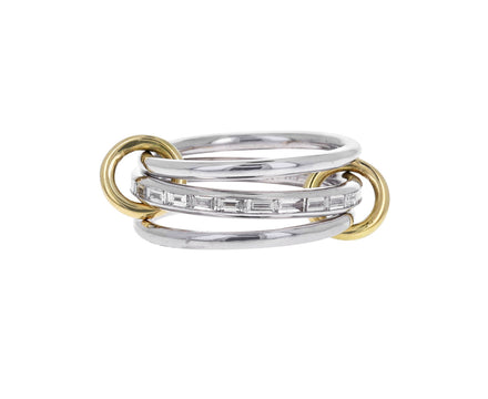 White Gold and Baguette Diamond Hume Ring