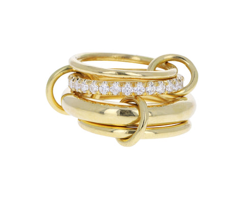 Yellow Gold Diamond Luna Ring