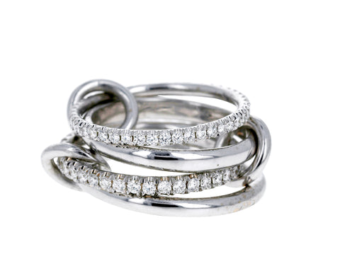 White Gold and Diamond Polaris Ring
