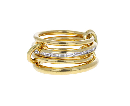 Baguette Diamond Metius Four Linked Band
