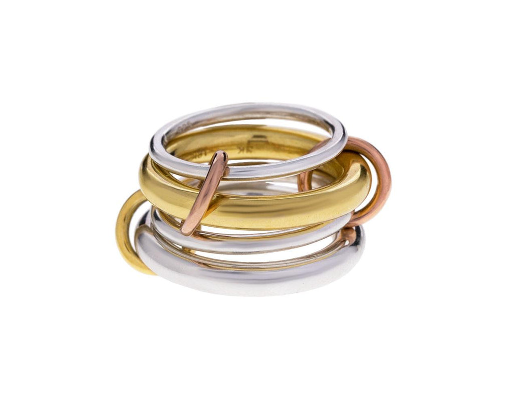Four Mixed Metal Band zoom 1_spinelli_kilcollin_gold_four_linked_ring
