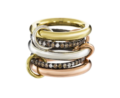 Five Band Capricorn Ring zoom 1_spinelli_kilcollin_silver_gold_diamond_capricorn