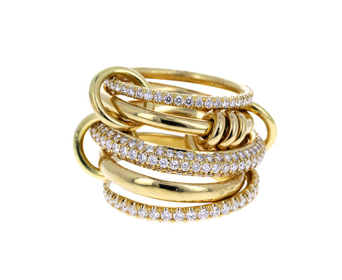 Gold and Diamond Venus Ring