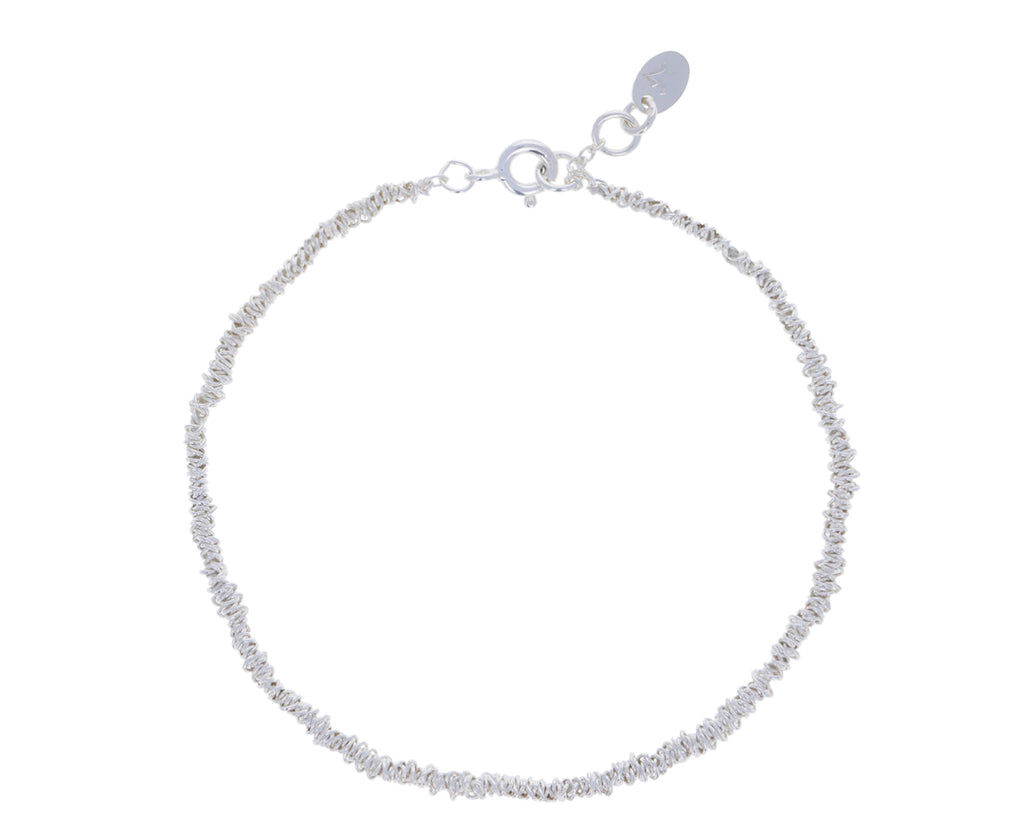 Wrapped Sterling Silver Chain Bracelet