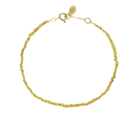 Wrapped Gold Plated Chain Bracelet