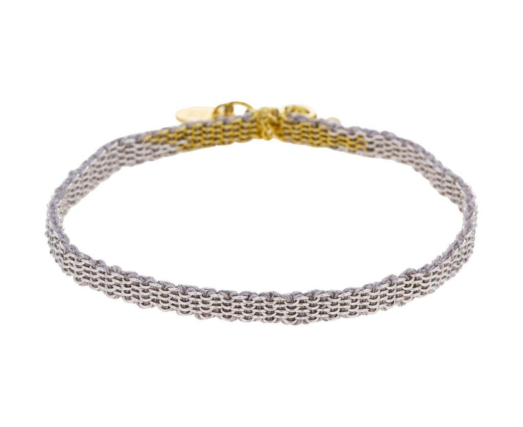 Sterling Silver and Gold Woven Silk Bracelet - TWISTonline