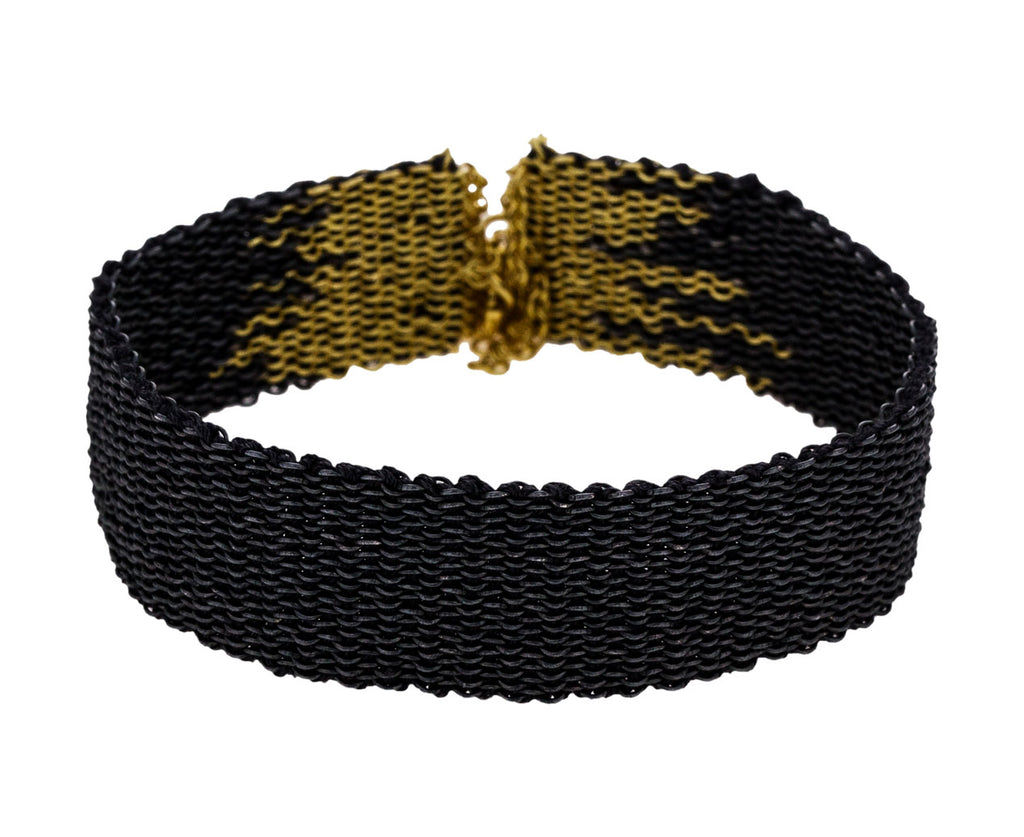 Oxidized Sterling Silver and Gold Silk Woven Bracelets - TWISTonline