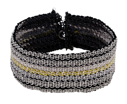 Mixed Metal Woven Stripe Bracelet - TWISTonline