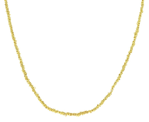 Wrapped Gold Plated Chain Necklace