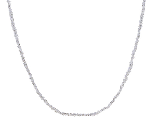 Wrapped Sterling Silver Chain Necklace