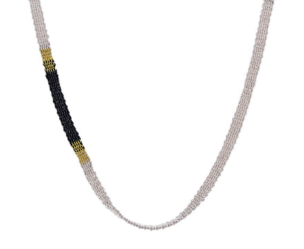 Mixed Metal Stripe Necklace - TWISTonline
