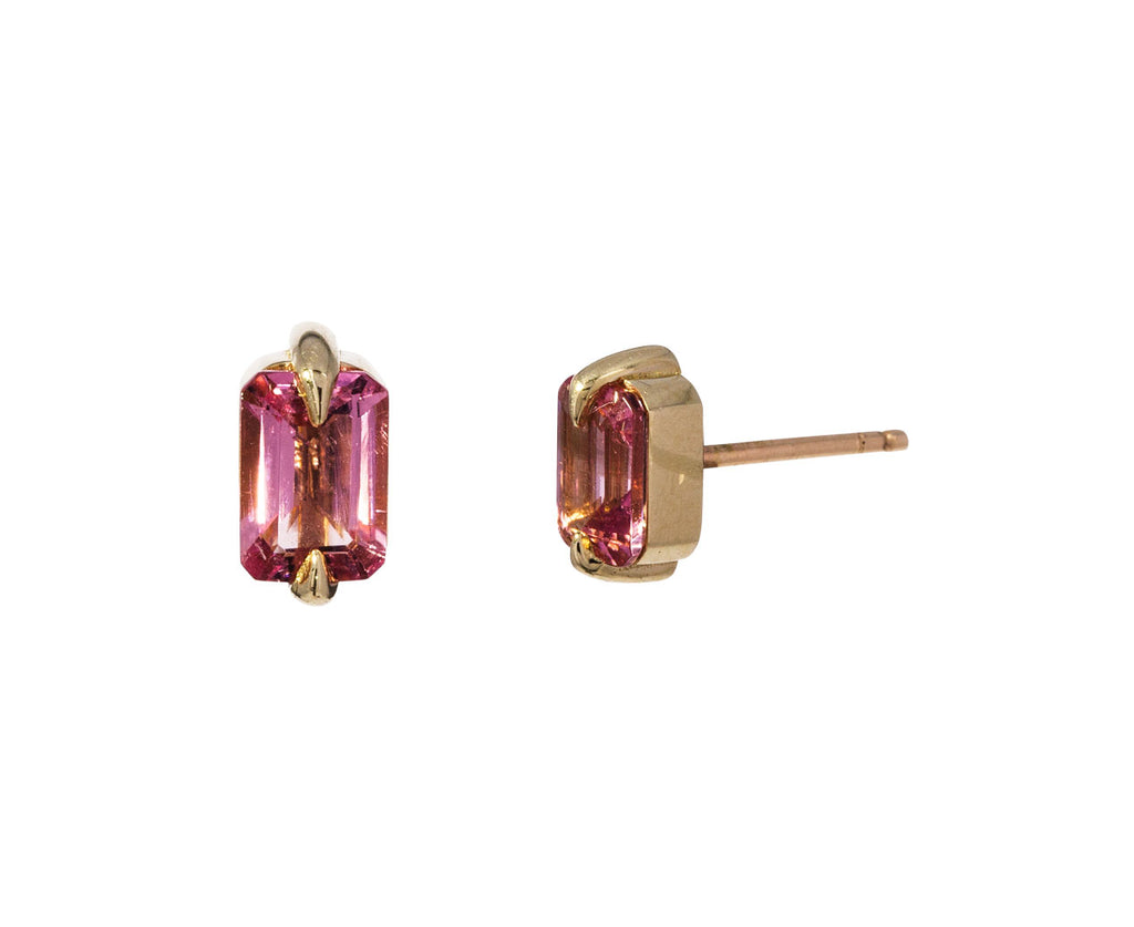 Pale Pink Tourmaline Stud Earrings