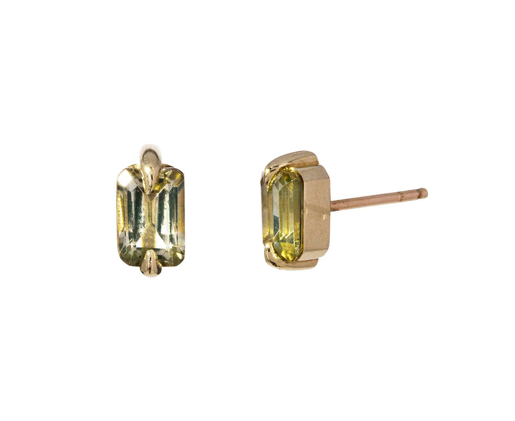 Champagne Tourmaline Stud Earrings