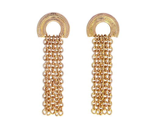 Migraine Double Arc Chain Earring