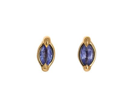 Pale Blue Sapphire Marquise Stud Earrings