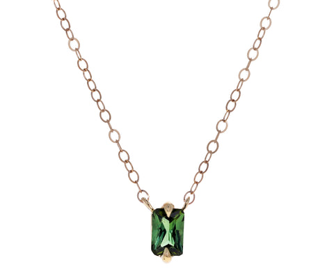 Forest Green Tourmaline Necklace
