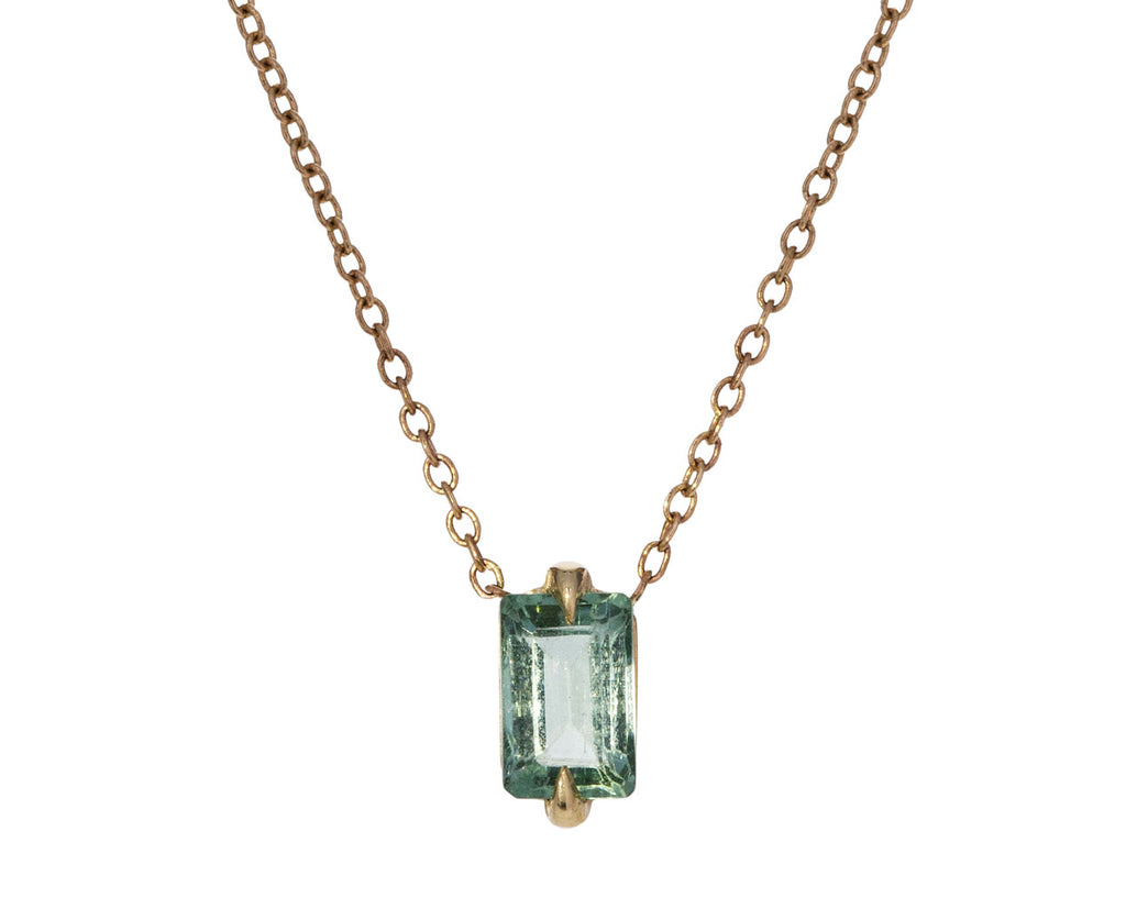 Light Green Tourmaline Pendant Necklace