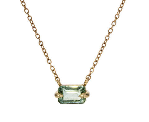 Blue Green Tourmaline Necklace