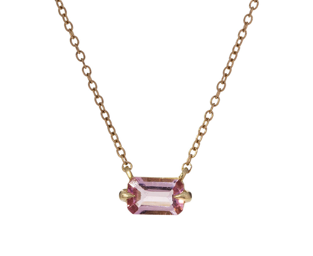 Light Pink Tourmaline Pendant Necklace