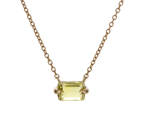 Chartreuse Tourmaline Necklace