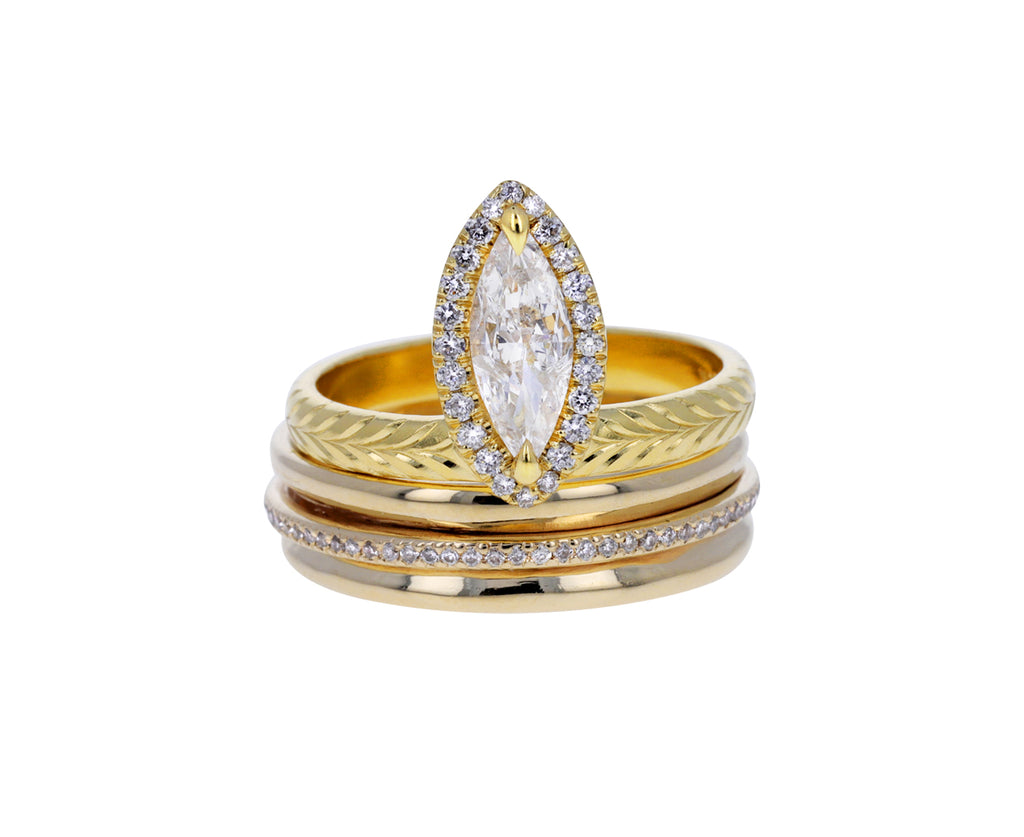 Thin Champagne Diamond Spinner Ring