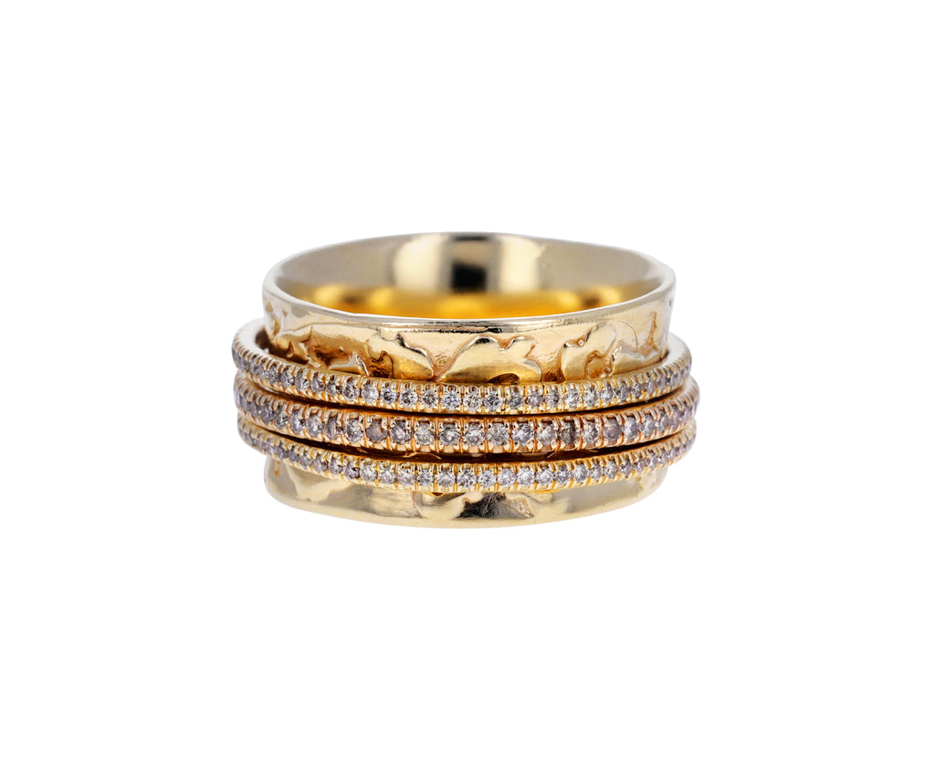 Triple Champagne Diamond Spinner Ring