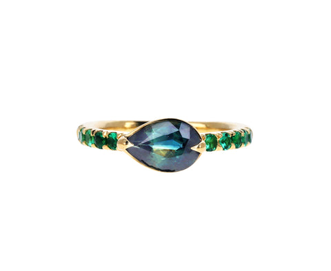 Sapphire and Emerald Curo Ring