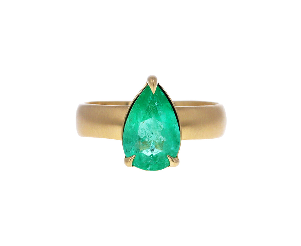 Colombian Emerald Solitaire Ring